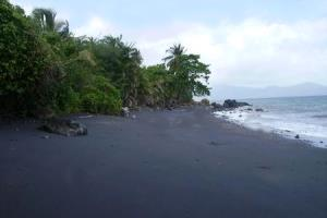 Black sand beach of Mayotte