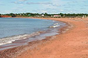 Red sand beach of Gaspésie