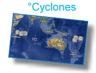 Geoagraphic breakdown of cyclones by month