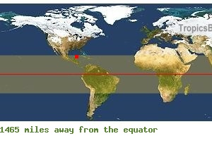 Equatorial distance from Cancun, MEXICO !