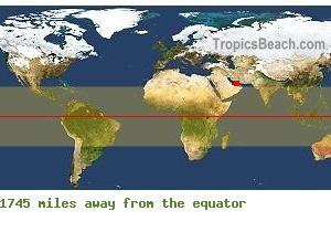 Equatorial distance from Dubai, UNITED ARAB EMIRATES !