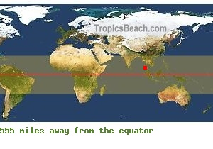 Equatorial distance from Phuket, THAILAND !
